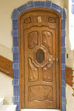 Decorative door in Casa Batllo Stock Image