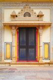Decorative Door At City Palace. Ancient decorative door at Jaipur City Palace. Cit Palace complex in Jaipur, the capital of Rajasthan state, India. The palace stock photo