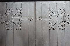Decorative door hinges Royalty Free Stock Photography