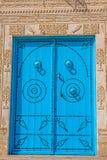 Decorative door in Kairouan, Tunisia Stock Photos