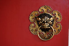 Decorative door knocker Royalty Free Stock Images