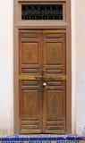 Decorative door in Morocco Stock Photo