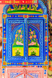Decorative door. Traditional handmade decorative and colorful door Royalty Free Stock Image