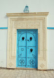 Decorative door in Tunis. Traditional registration of doors in Tunis Royalty Free Stock Photography