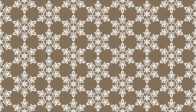 Decorative dots and floral geometric repeated pattern design. Black and white vector image for fabric printing, wallpaper, tile design, laser cutting design Stock Photography