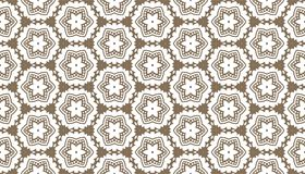 Decorative dots and floral geometric repeated pattern design. Black and white vector image for fabric printing, wallpaper, tile design, laser cutting design Royalty Free Stock Photography