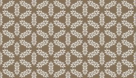 Decorative dots and floral geometric repeated pattern design. Black and white vector image for fabric printing, wallpaper, tile design, laser cutting design
