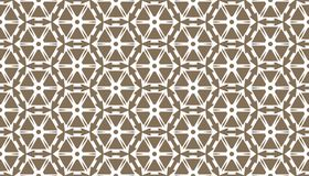 Decorative dots and floral geometric repeated pattern design Stock Photo