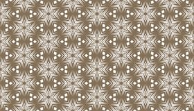 Decorative dots and floral geometric repeated pattern design Stock Images