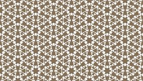 Decorative dots and floral geometric repeated pattern design Royalty Free Stock Photography