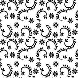 Decorative dots and floral geometric repeated pattern design Royalty Free Stock Image