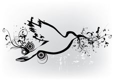 Decorative dove Stock Images