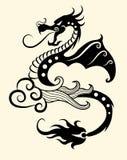 Decorative dragon vector illustration