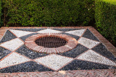 Decorative Drain. In Ancient Stone Fortress in Malaga, Spain Stock Images