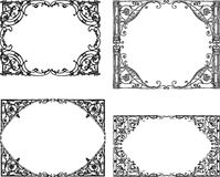 Decorative drawn frames from architectural details stock illustration