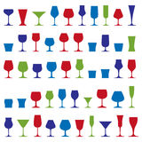 Decorative drinking glasses collection. Set of celebration goble Stock Photos