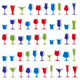 Decorative drinking glasses collection. Set of celebration goble. Ts, simple vector glassware, can be used in graphic and web design Stock Image