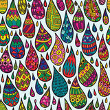 Decorative Drops Seamless Pattern Stock Images
