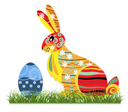 Decorative Easter bunny. Against the white background Royalty Free Stock Photography