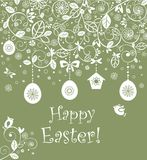 Decorative easter card Stock Images