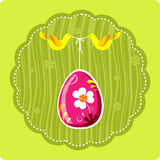 Decorative easter egg with birds Stock Image