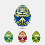 Decorative easter egg colection Stock Photo