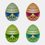 Decorative easter egg colection Royalty Free Stock Images