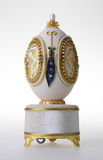 Decorative easter egg for jewellery (Faberge egg) on background Royalty Free Stock Image