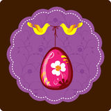 Decorative Easter Egg With Birds Royalty Free Stock Images