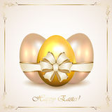 Decorative Easter eggs with floral frame Stock Images