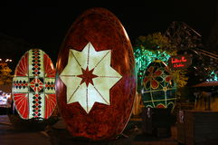 Decorative Easter eggs in the night Royalty Free Stock Image