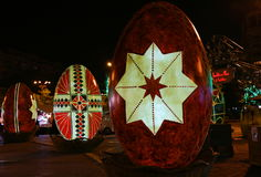 Decorative Easter eggs in the night Royalty Free Stock Images