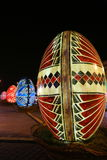 Decorative Easter eggs in the night Stock Images