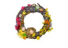 Decorative Easter elements.Isolated. Decorative Easter elements with flowers Isolated.White background Stock Image