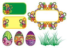 Decorative easter elements Stock Photo