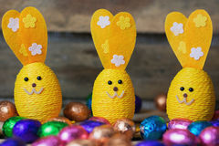 Decorative Easter hares Stock Image