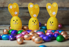 Decorative Easter hares Stock Photography