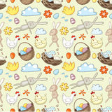Decorative Easter pattern Royalty Free Stock Images