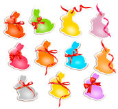 Decorative easter rabbits. Easter cards Stock Image