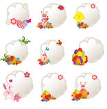 decorative easter tags Stock Image