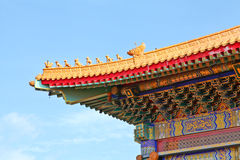 Decorative eaves of chinese temple Royalty Free Stock Images