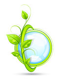 Decorative eco button Stock Photo