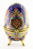 Decorative egg. On the white background isolated Royalty Free Stock Photo