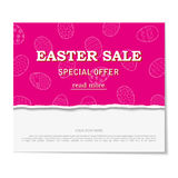 The decorative eggs banner for Easter sales with special offers Royalty Free Stock Photos