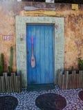 Decorative Egyptian doorway Stock Photo