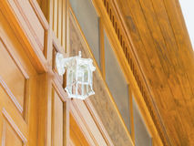 Decorative electric lamp installed vertically Royalty Free Stock Image