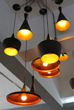 Decorative electric lamps hanging Stock Image