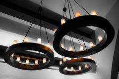 Decorative electric lights stock photo