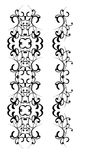 Decorative element. Patterned decorative element with swirls for framing and decorating pictures Stock Photo