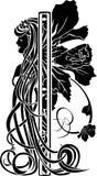 Decorative element in the art nouveau style Stock Image